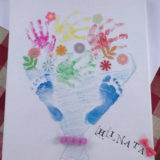 手形足型アート見本(花束)